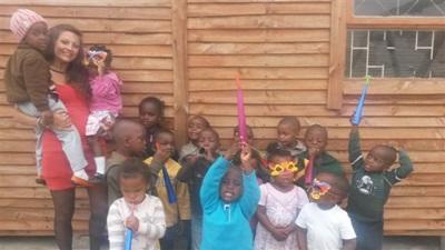 Action sociale dans un bidonville en afrique du Sud