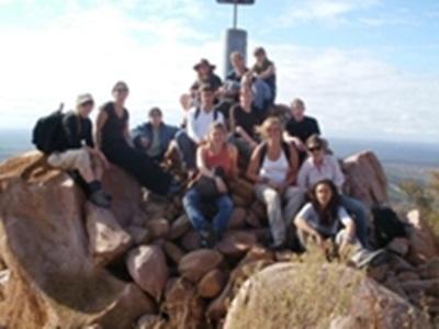 Une partie des volontaires au plus haut point de la réserve