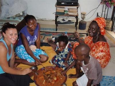 Dans la famille d'accueil sénégalaise