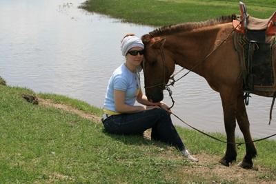 Aurore et son cheval