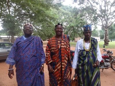 Rencontre de responsables d'un village togolais
