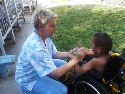 Aide aux enfants handicapés en Mongolie
