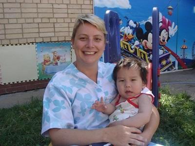 Charlotte en mission humanitaire en Mongolie
