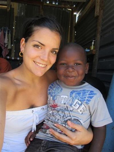 Chloé en mission humanitaire en Afrique du Sud