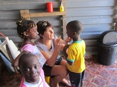 Martine en mission humanitaire en Afrique du Sud