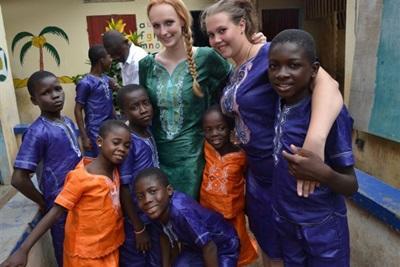 Les volontaires en mission humanitaire au togo
