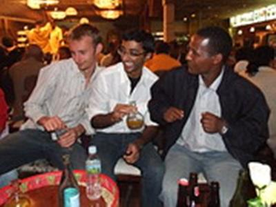 Avec l'équipe. David Genty, Ethiopie