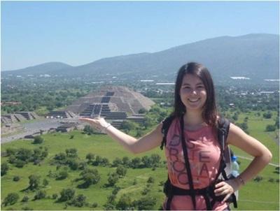 Une volontaire au Mexique