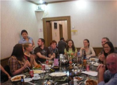 Etienne et les autres volontaires en Mongolie
