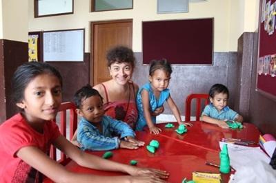 Françoise en mission humanitaire au Népal