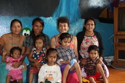 S'occuper d'enfants au Népal