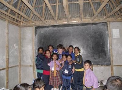Gauthier en mission Enseignement au Népal