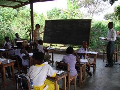 Ghana, enseignement par Hélène Pierrat