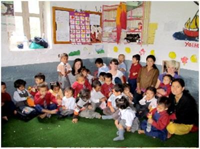 Mission humanitaire dans une école au Népal