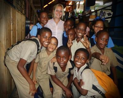 Pauline, enseignante volontaire en Jamaïque