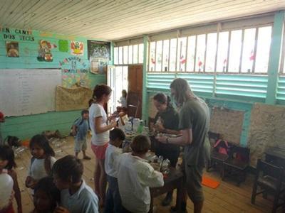 Isabelle en mission humanitaire au Pérou