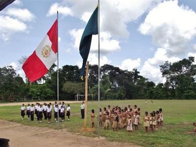 Mission dans une école au Pérou