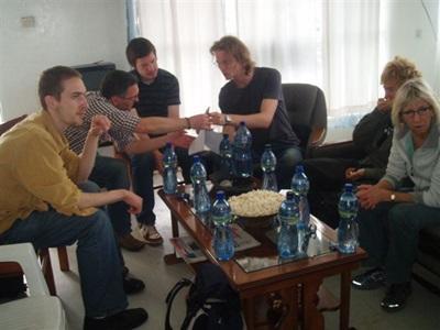 Joelle et les volontaires en Ethiopie