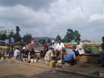 Scène de rue en Ethiopie