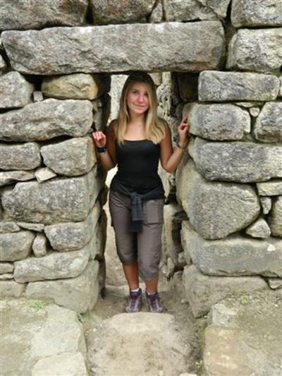 Justine, étudiante infirmière en stage au Pérou