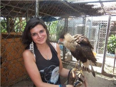 Lucie en soins animaliers au Mexique