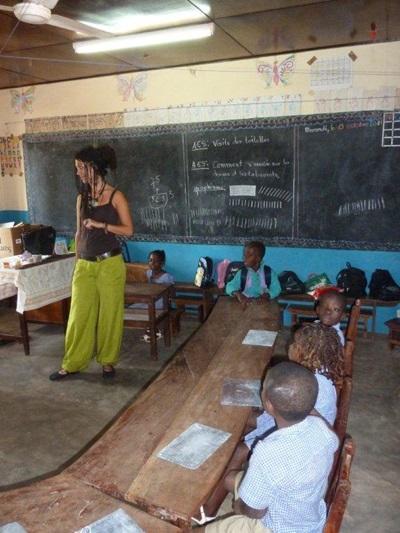Action sociale dans une école spécialisée, Afrique de l'ouest