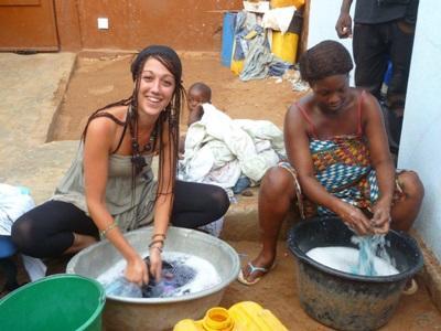 Marie en mission humanitaire au Togo