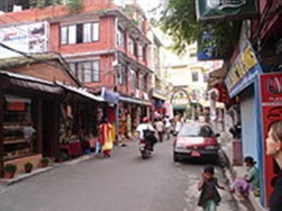 Marie Gudin, Népal. Les rue de Thamel
