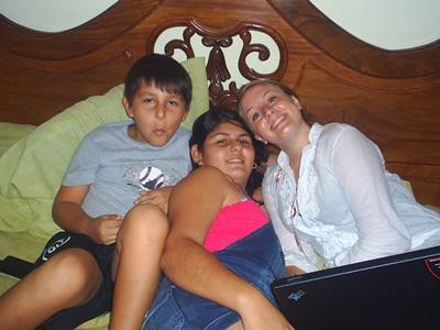 Avec ma famille du Costa Rica