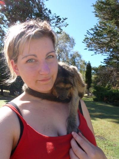 Mélanie en soins animaliers en Argentine