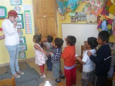 Action de bénévolat auprès d'enfants en Amérique Latine