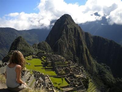 Face au Machu Picchu