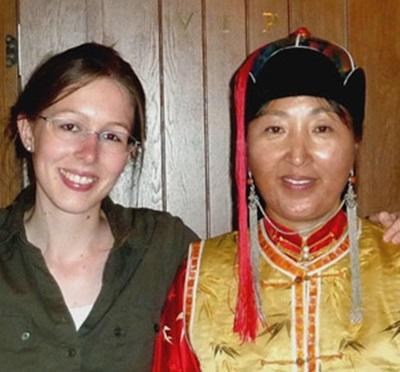 Nadia en mission en Mongolie