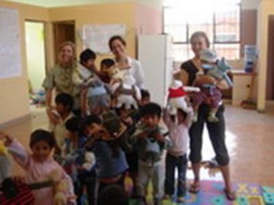 Dans l'orphelinat. Nicole Montet, Bolivie