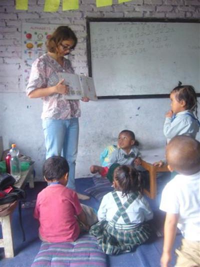 Initiation à l'anglais au Népal