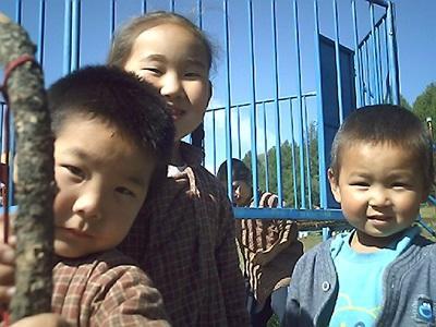 Enfants de Mongolie