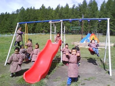 Les enfants du centre