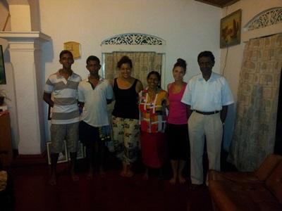 Volontaires en familles d'accueil au Sri Lanka