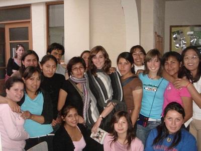 Vanina Preney, Bolivie, avec les élèves