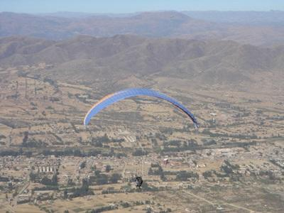 Vanina Preney, Bolivie. Parapente