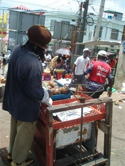 Scène de rue jamaïcaine