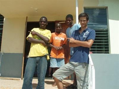 Victor en mission humanitaire en Jamaïque