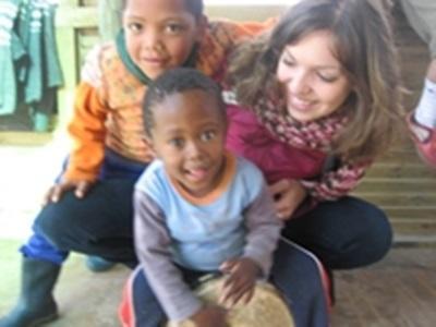 Virginie et deux enfants