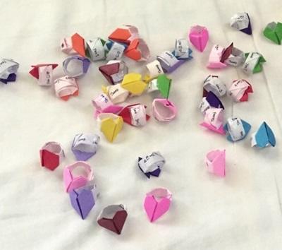 簡単 折り紙 ハートの指輪 折り紙 : projects-abroad.jp