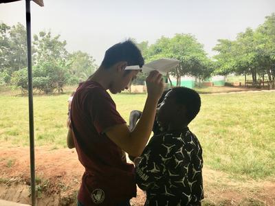 ケアプロジェクトに参加し一緒に過ごしたガーナの子供たち