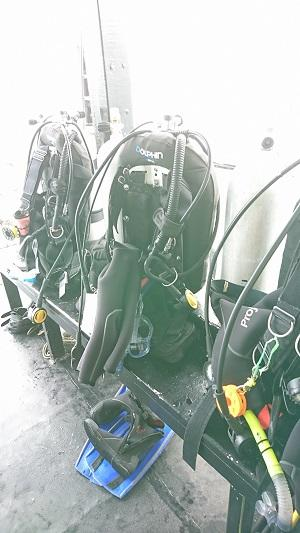 ダイビング機材を使って行った環境保護活動
