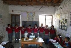 Bram Donkers lesgeven in Nepal