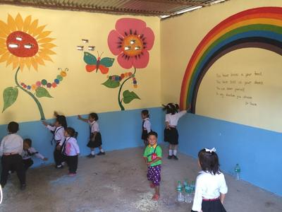 Kinderen lokale school groepsreis nepal