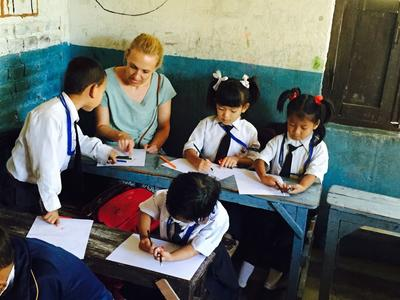 Vrijwilligerswerk met kinderen in nepal