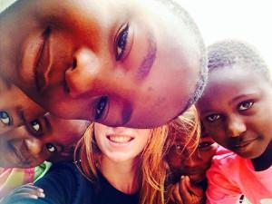 Britt Gijzen in Tanzania